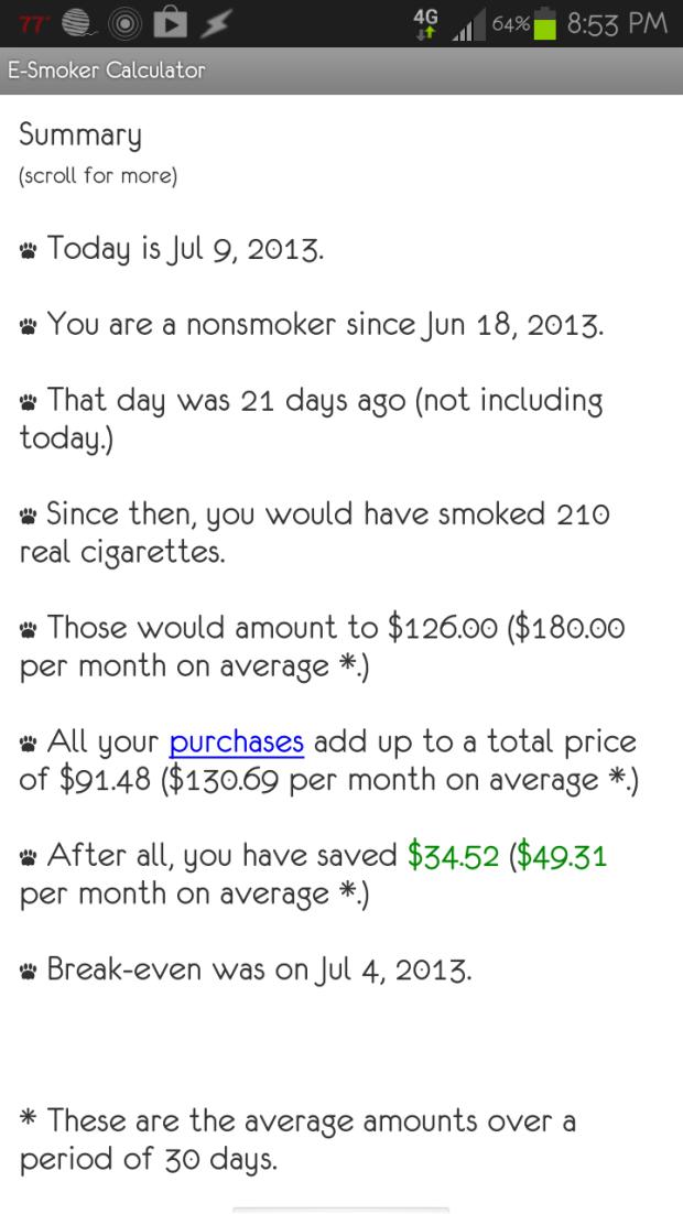 Three Weeks Smoke Free!